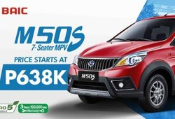 [BAIC Promo] Get a perfect BAIC MPV M50S 7-seater 1.5L M/T with all-in down payment worth P127,600 this Valentine
