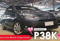 [Toyota Promo] Crazy hot deal for V's day: 2015 Toyota Vios 1.3 E Gas AT for sale at P478k only!