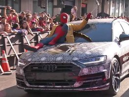 See the new high-tech limo Audi A8 early in Spider-Man: Homecoming