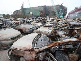 [Photo] Over 100 devastated cars in Sewol ferry disaster raised from its watery grave