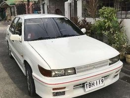 1990 Mitsubishi Lancer. White. Manual for sale