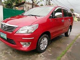 2012 Toyota Innova E Gen 2 Red SUV For Sale