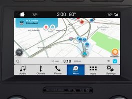 Ford vehicles with SYNC 3 are able to perform Waze on their display screens