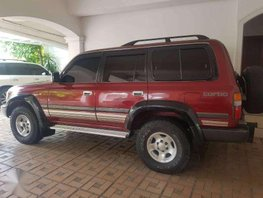SELLING red 1997 Toyota Land Cruiser 80