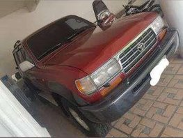 Red 1997 Toyota Land Cruiser 80 FOR SALE