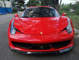 Red 2013 Ferrari 458 Italia at 20000 km for sale in Metro Manila
