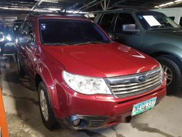Selling Red 2009 Subaru Forester at 98000 km in Pasig