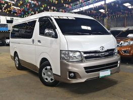 White 2013 Toyota Hiace Manual Diesel for sale in Quezon City