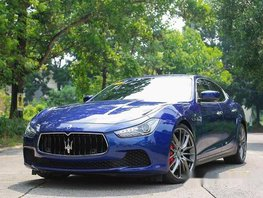 Sell Blue 2015 Maserati Ghibli Automatic Gasoline at 9000 km in Quezon City