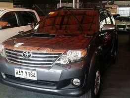 Selling Grey Toyota Fortuner 2014 Automatic Diesel in Pasig City