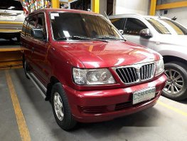 Red Mitsubishi Adventure 2002 Manual Diesel for sale