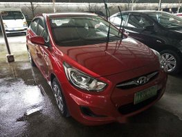 Selling Red Hyundai Accent 2015 in Las Pinas