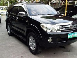 Sell Black 2010 Toyota Fortuner at 62000 km in Pasig