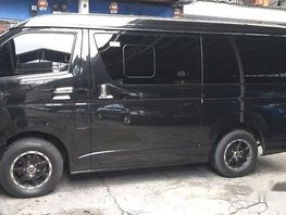 Black Toyota Hiace 2015 Automatic Diesel for sale in Parañaque