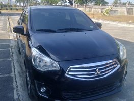 Black Mitsubishi Mirage G4 2014 Sedan at 28000 km for sale