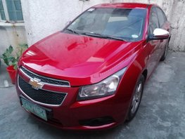 Red Chevrolet Cruze 2012 Automatic Gasoline for sale