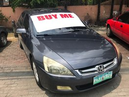 Grey 2007 Honda Accord for sale in Quezon City