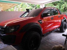 Orange 2013 Ford Ranger at 45560 km for sale in Davao City