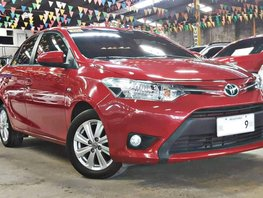 Red 2016 Toyota Vios at 13000 km for sale in Quezon City