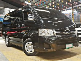 Black 2013 Toyota Hiace Diesel Manual for sale in Quezon City