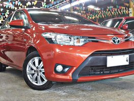Orange 2017 Toyota Vios at 35000 km for sale in Quezon City