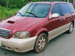 Red 2002 Kia Sedona for sale in Quezon City
