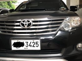 Sell Black 2012 Toyota Fortuner at 66000 km in Pasig