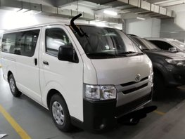 White 2018 Toyota Hiace Manual Diesel for sale in Quezon City