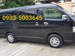 Black 2013 Toyota Hiace Manual Diesel for sale