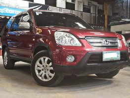 Red 2006 Honda Cr-V at 55000 km for sale in Quezon City