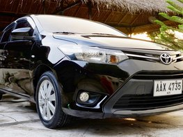 Black Toyota Vios 2015 Automatic Gasoline for sale in Angeles