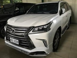 White Lexus Lx 2017 Automatic Diesel for sale