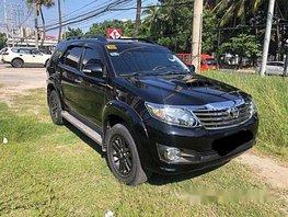 Black Toyota Fortuner 2015 at 37000 km for sale