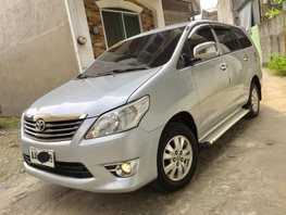 Silver 2014 Toyota Innova for sale in Quezon City