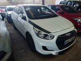 White Hyundai Accent 2016 Automatic Gasoline for sale