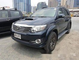Sell Black 2015 Toyota Fortuner Manual Gasoline at 85000 km