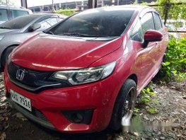 Red Honda Jazz 2017 Automatic Gasoline for sale
