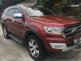 Red Ford Everest 2016 Automatic Diesel for sale