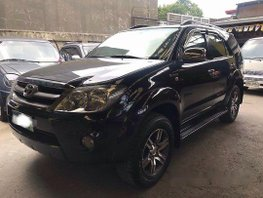 Black Toyota Fortuner 2008 for sale in Rizal