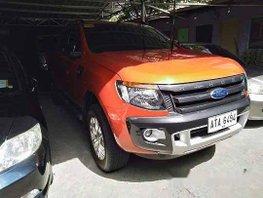 Orange Ford Ranger 2015 at 57049 km for sale