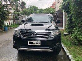Black Toyota Fortuner 2012 Manual Diesel for sale