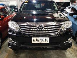 Selling Black Toyota Fortuner 2015 in Manila