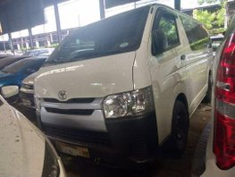 White Toyota Hiace 2018 Manual Diesel for sale