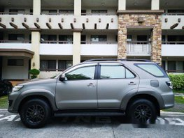 Sell Grey 2015 Toyota Fortuner at 70000 km