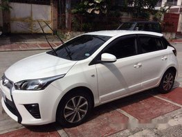 White Toyota Yaris 2016 at 51000 km for sale
