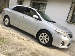 Silver 2013 Toyota Corolla Altis for sale in Quezon City