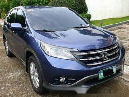 Sell Blue 2013 Honda Cr-V Automatic Gasoline at 77000 km
