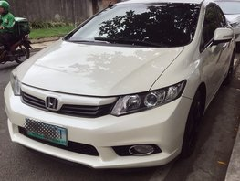 White 2012 Honda Civic for sale in Quezon City