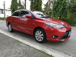 Sell Red 2014 Toyota Vios Sedan at 80000 km