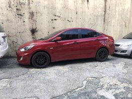 Red Hyundai Accent 2013 Sedan at 59000 km for sale